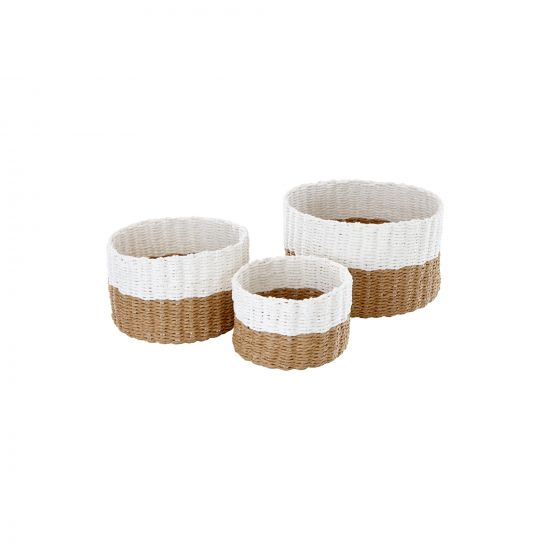 LOT DE 3 PANIERS BICOLORES