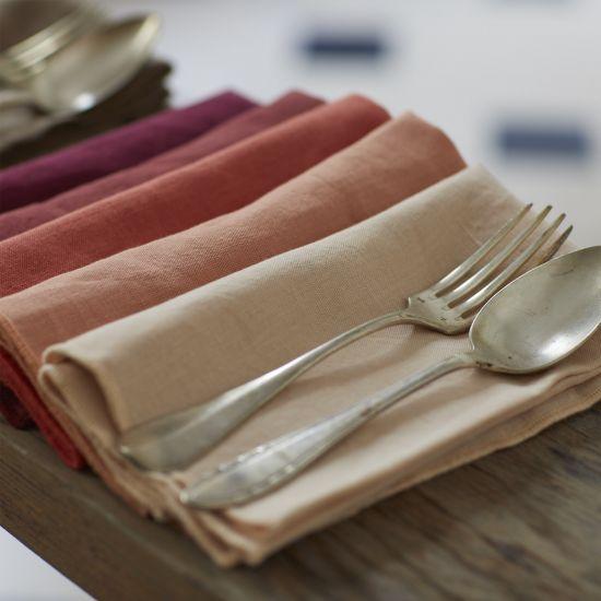 SERVIETTE DE TABLE EN COTON ET LIN BOURDON COLORÉ