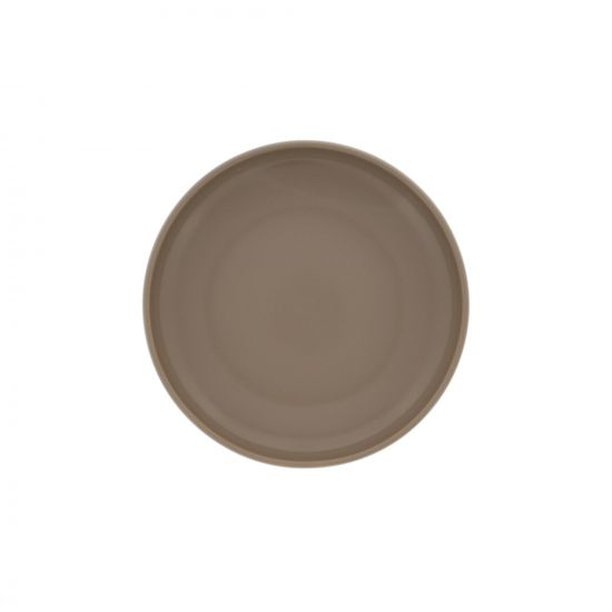 ASSIETTE CREUSE UNIE PORCELAINE FORMES ARRONDIES