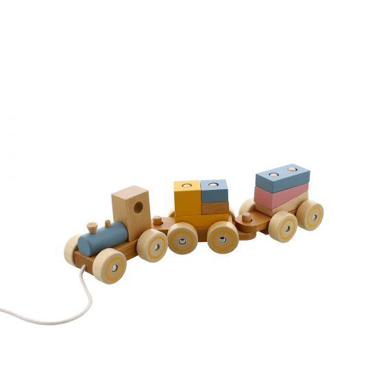 TRAIN EN BOIS À TIRER ET CONSTRUIRE