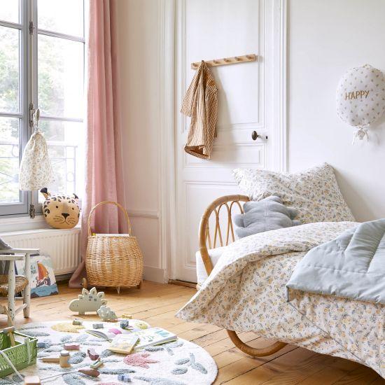 PARURE DE LIT ENFANT IMPRIME POIRES HOUSSE + TAIE
