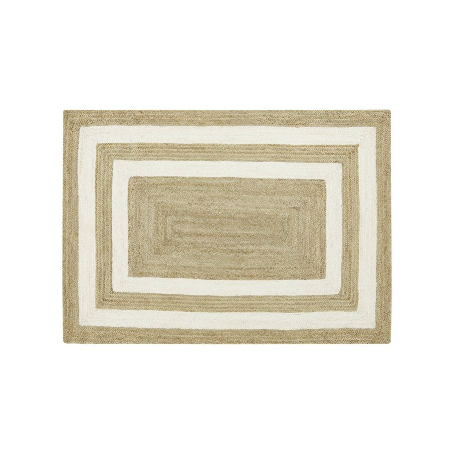 grand tapis en jute motifs rectangulaires