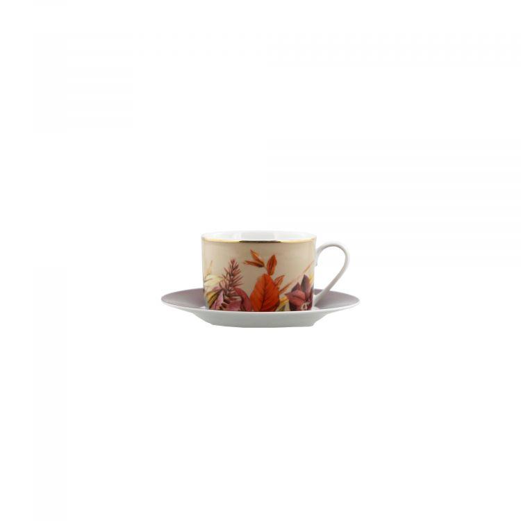 COFFRET TASSE À CAFÉ ET SOUCOUPE MOTIF FLORAL