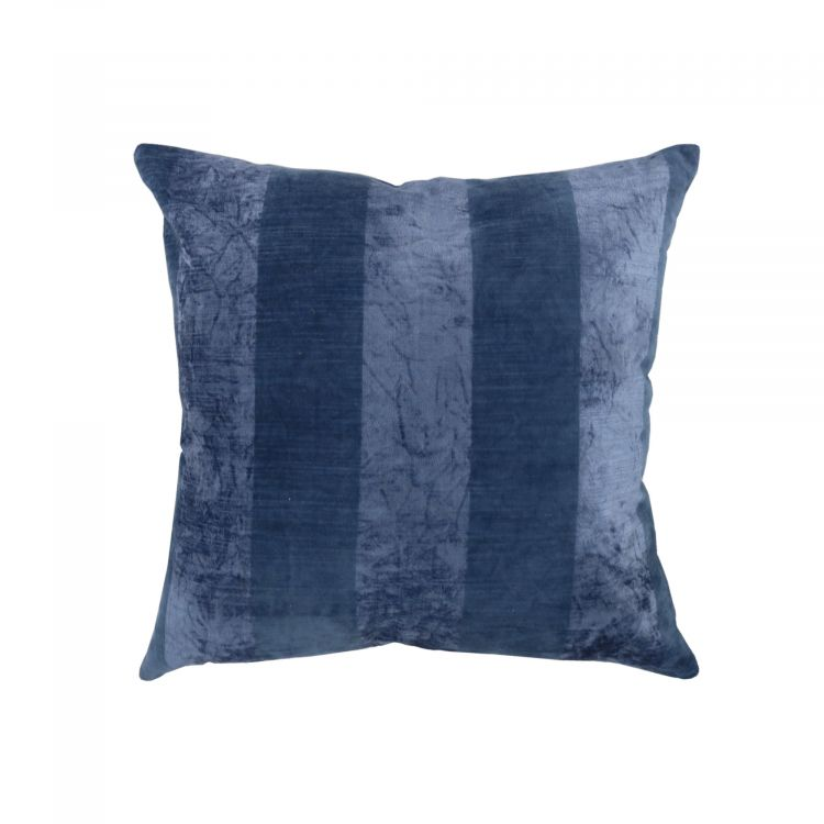 COUSSIN À RAYURES EFFET VELOURS