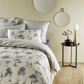 LOT DE 2 TAIES OREILLERS PERCALE EFFET INDIENNE