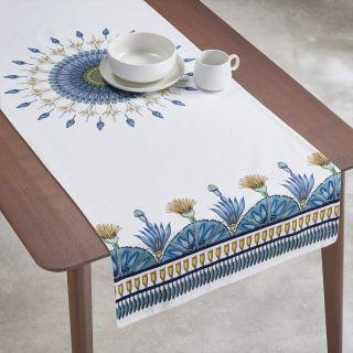 CHEMIN DE TABLE EN COTON IMPRIMÉ PISTILS