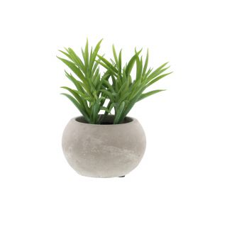 SUCCULENTE ARTIFICIELLE DANS SON POT GRIS