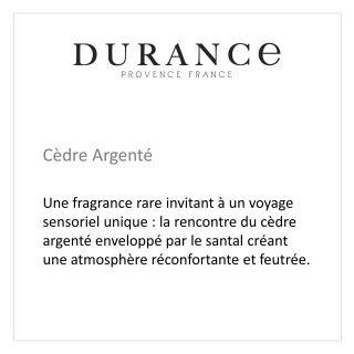 BOUGIE PARFUMÉE TRADITIONNELLE - DURANCE